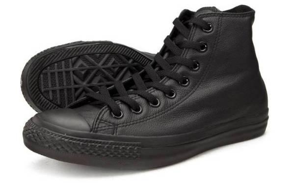 C135251 Converse boty Leather All Star Black Monochrome
