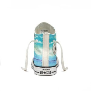 Converse boty Chuck Taylor All Star Spray Paint Blue back