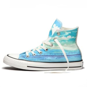 Converse boty Chuck Taylor All Star Spray Paint Blue left