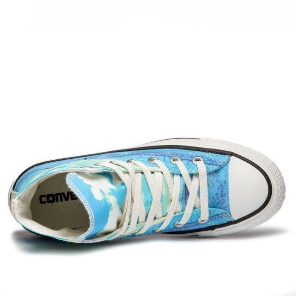 Converse boty Chuck Taylor All Star Spray Paint Blue top