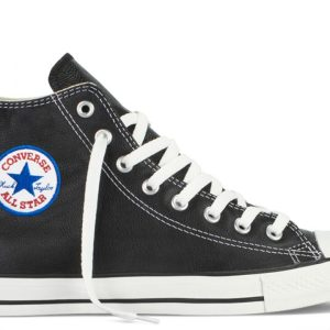 Converse kozene boty Chuck Taylor Leather Black back main