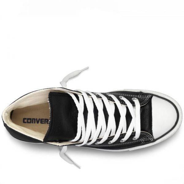 Converse kozene boty Chuck Taylor Leather Black back top