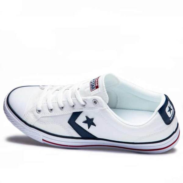 Converse boty Star Player OX White Navy leftangle