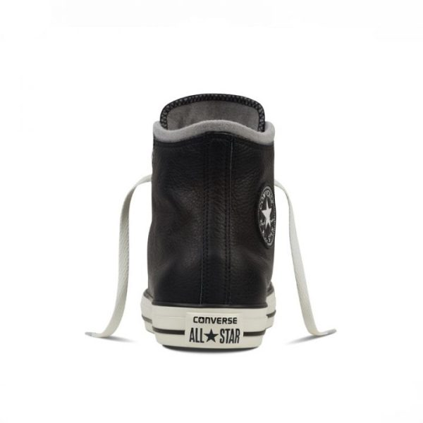 Converse boty Chuck Taylor Black Leather Wool back