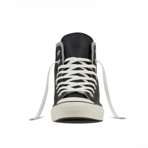 Converse boty Chuck Taylor Black Leather Wool front