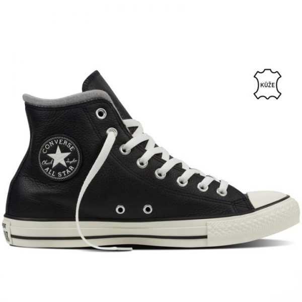 Converse boty Chuck Taylor Black Leather Wool right