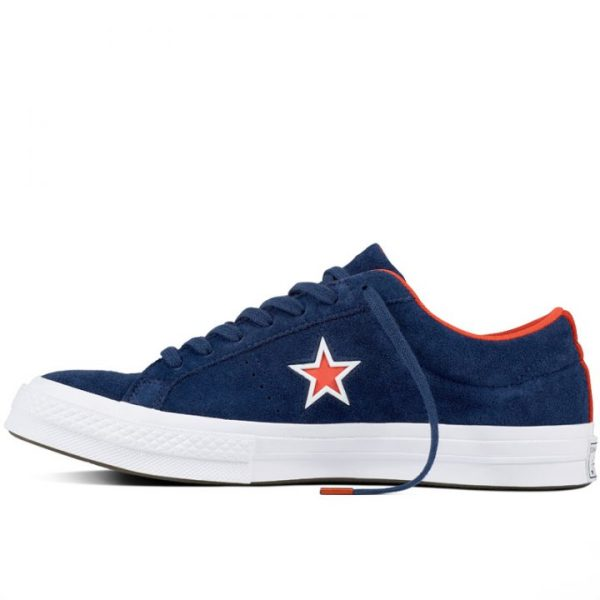 Boty Converse One Star Suede Modler Star Navy left