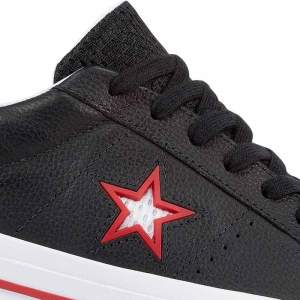 Converse boty One Star Ox Leather Black star