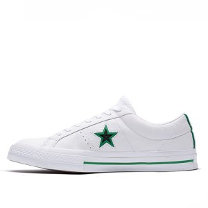 Converse boty One Star Ox Leather White left