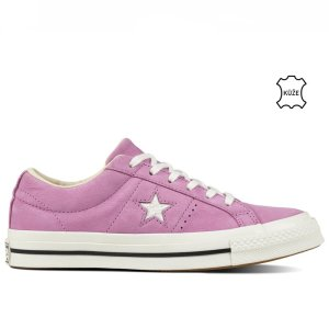 Converse one star varsity nubuck low top fuchsia glow right