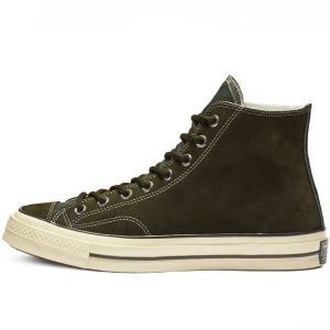 Converse boty Chuck Taylor All Star 70 Base Camp Suede High Top Utility Green left