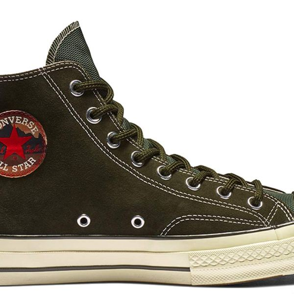 Converse boty Chuck Taylor All Star 70 Base Camp Suede High Top Utility Green main
