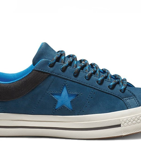Converse boty One Star Sierra Leather Low Top Blue Fir main