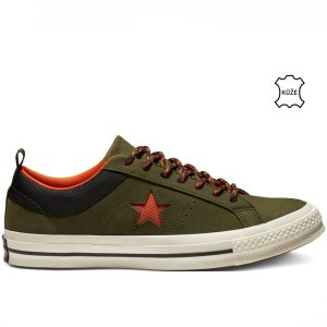 Converse boty One Star Sierra Leather Low Top Utility Green right