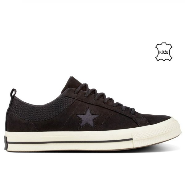 Converse boty One Star Sierra Low Top Black right