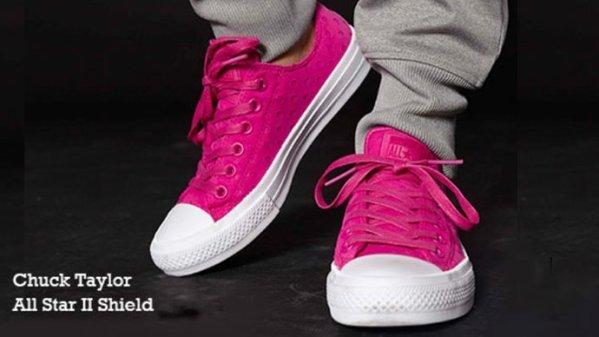 Converse boty Chuck Taylor All Star II Shield Lycra Pink promo