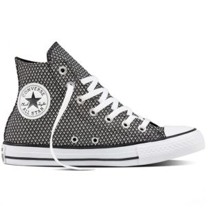 Boty Converse Chuck Taylor All Star Waven Hi Black White right