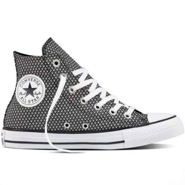 Boty Converse Chuck Taylor All Star Waven Hi Black White right