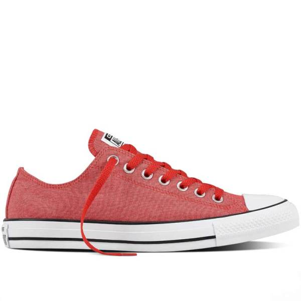 Nizké červené tenisky Converse Chuck Taylor All Star Washed Chambray Low Casino