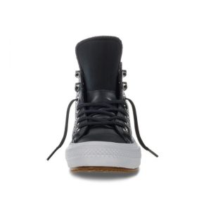 Converse boty Chuck Taylor WP Boot Leather Black front