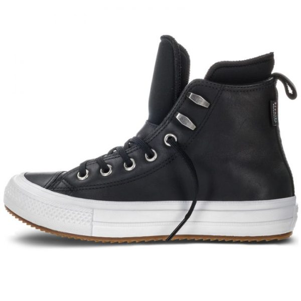 Converse boty Chuck Taylor WP Boot Leather Black left