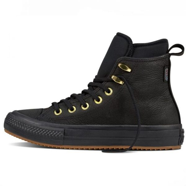 Converse boty Chuck Taylor WP Nubuck Boot Black left