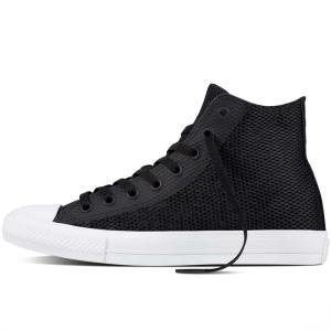 Converse boty Chuck Taylor II Open Knit Black left