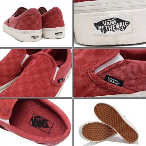 Vans boty Classic Slip-on Overwashed Red details