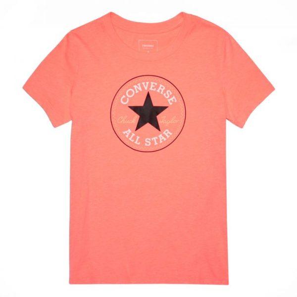 Converse tričko Solid Chuck Patch Crew Orange front