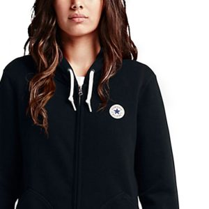 Mikina Converse Core Full Zip Hoodie Black Mid WT main