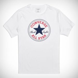 Triko Converse Core Chuck Patch Tee White front
