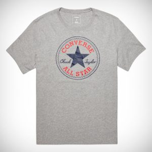 10002848-A03 Triko Converse Core Chuck Patch Tee Vintage grey Heather