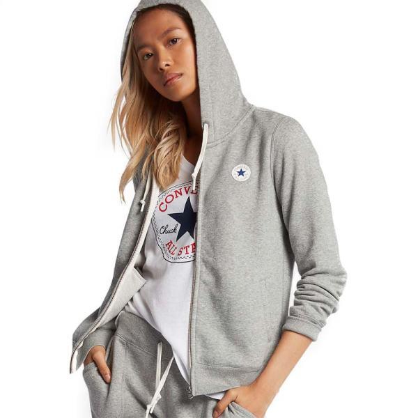 Converse damská mikina Full Zip Vintage Grey promo