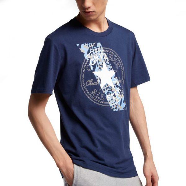 Converse pánské tričkoChuckpatch Contrast Slash Tee Navy front