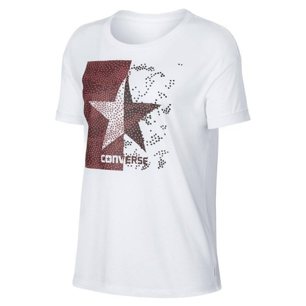 converse tricko dot camo star fill easy crew tee front