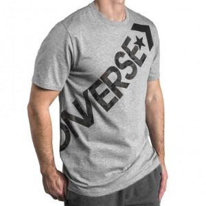 Converse panske triko Mens Cross Body Tee Vintage Gray main