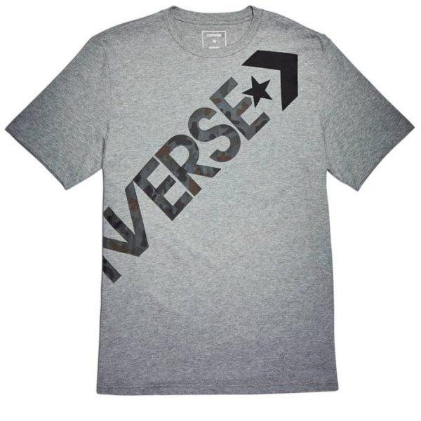Converse panske triko Mens Cross Body Tee Vintage Gray front