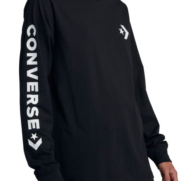 Converse tričko Star Chevron Wordmark Mens Long Sleeve T-Shirt close