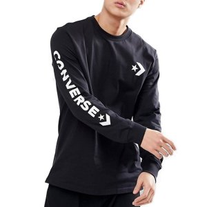 Converse tričko Star Chevron Wordmark Mens Long Sleeve T-Shirt front
