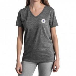 Damske tricko Converse Core Triblned TPU Vneck Tee Grey front