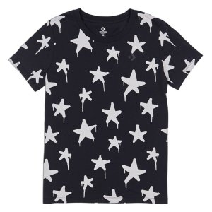 Converse tricko Graffitti Star Crew T-Shirt Black front