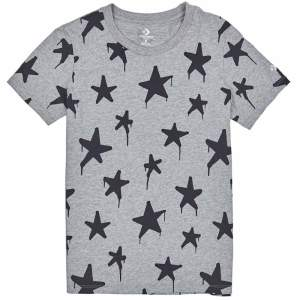 Converse tricko Graffitt Star Crew T-Shirt Vintage Grey Heather front