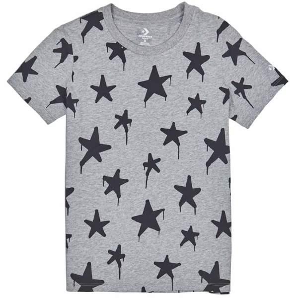 Converse tricko Graffitt Star Crew T-Shirt Vintage Grey Heather front