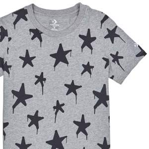 Converse tricko Graffitt Star Crew T-Shirt Vintage Grey Heather main