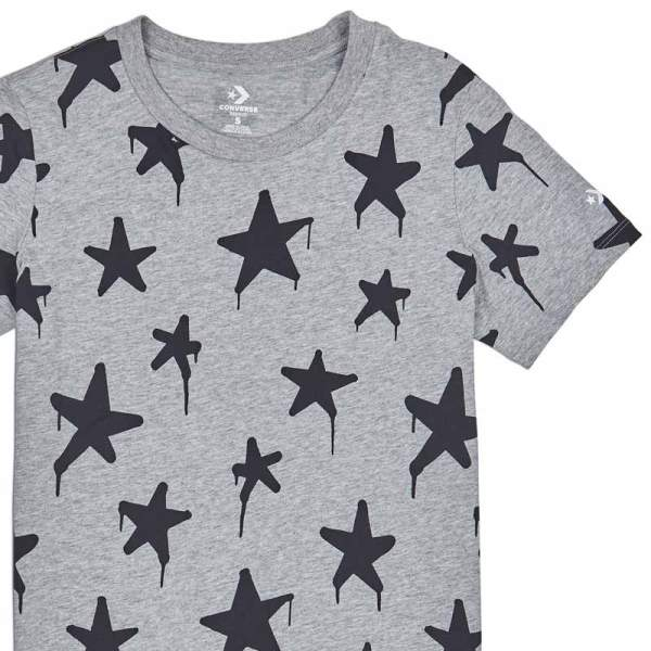 Converse tricko Graffitt Star Crew T-Shirt Vintage Grey Heather main