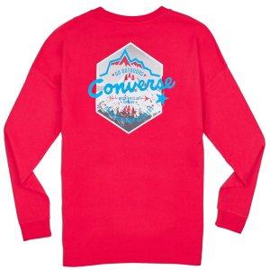 Converse tričko Mountain Club Long Sleeve T-Shirt back