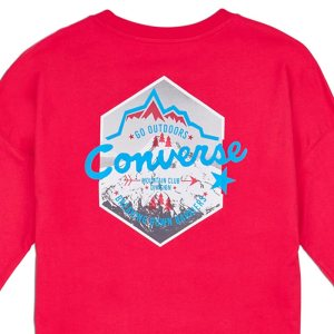 Converse tričko Mountain Club Long Sleeve T-Shirt detail