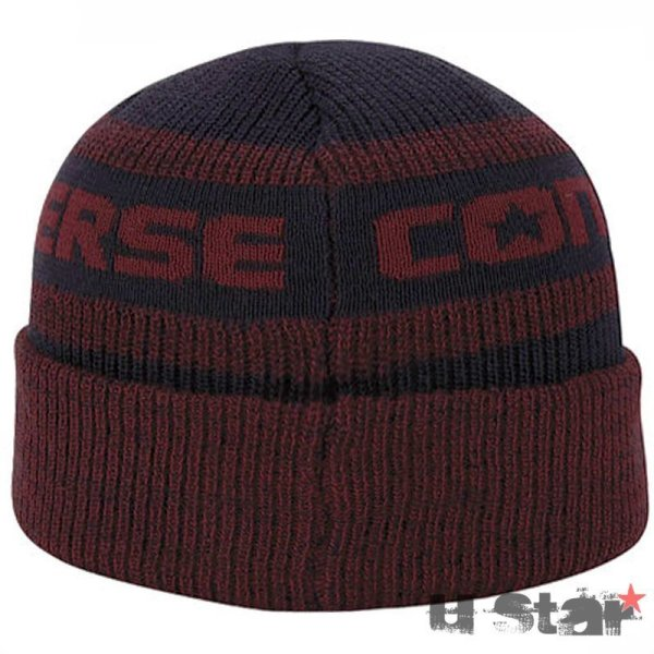 Converse cepice Jacquard Knit Watchcap Red Block 2