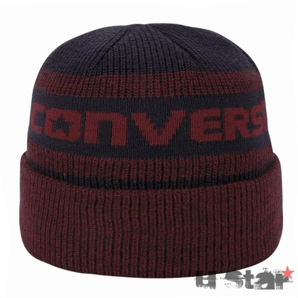 Converse cepice Jacquard Knit Watchcap Red Block square