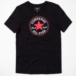 10001124-001 Tričko Converse Core Solid Cuck Patch Crew Black